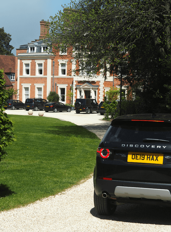 Heckfield Place in a Land Rover
