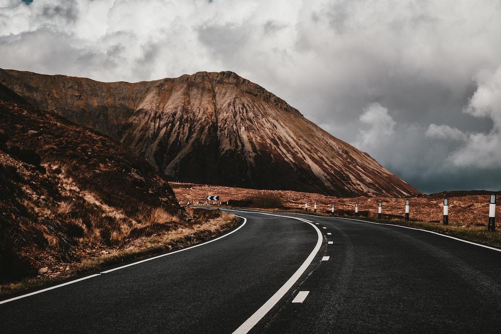 road in the isle of Skye